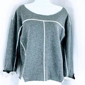 Lacoste Pierre / Argent Lurex Sweatshirt